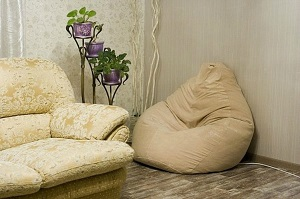 Кресло-мешок в интерьере.